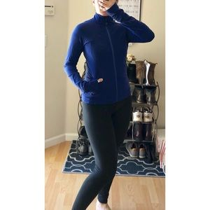 Lululemon zip up jacket in navy